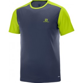 Camiseta Salomon M/C Stroll azul marino hombre