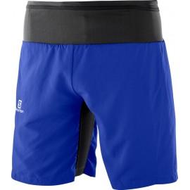 Pantalón corto Salomon Trail Runner Twinskin azul hombre