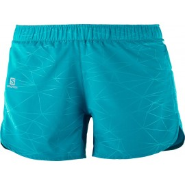 Pantalón corto Salomon Trail Runner azul mujer