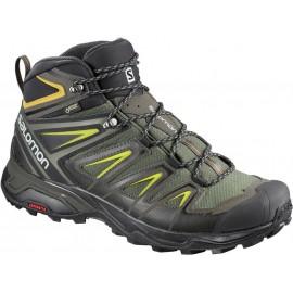 Botas trekking Salomon X Ultra 3 Mid GTX gris/ne/verd hombre