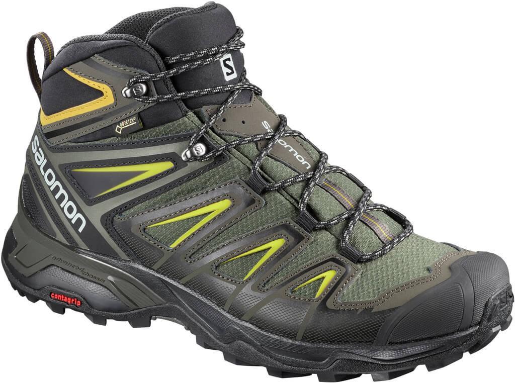 d038fbd4312 Botas trekking Salomon X Ultra 3 Mid GTX verde hombre - Deportes Moya