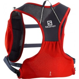 Mochila trail running Salomon Agile 2 Set rojo/gris