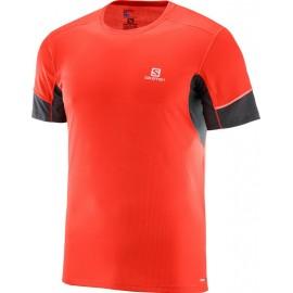Camiseta Salomon M/C Agile rojo hombre