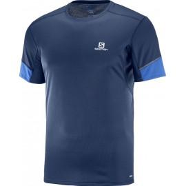 Camiseta Salomon M/C Agile azul marino hombre