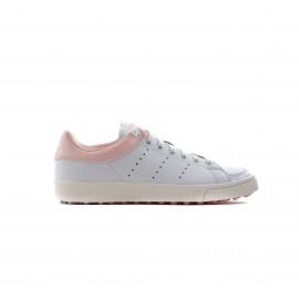 Zapatilla golf adidas Adicross classic blanca/rosa mujer