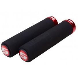 Puños Sram Locking Grip Foam negro-rojo 129mm