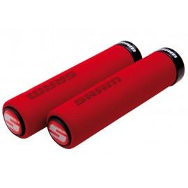 Puños Sram Locking Grip Foam rojo-negro 129mm