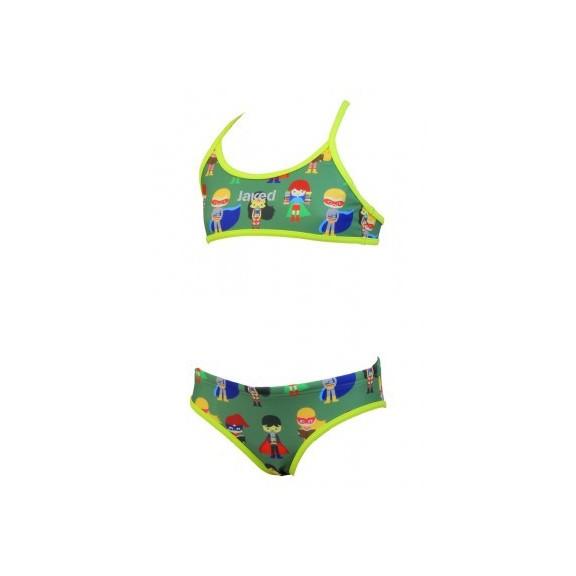 900e82164743 Bikini Jaked Teknocamou Superhéroes Verde Mujer