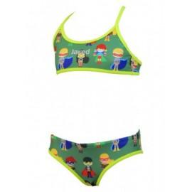 Bikini Jaked Superheroes verde niña
