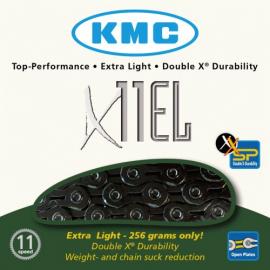Cadena KMC X11 EL 118P 11v Negra