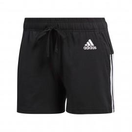 Pantalón corto adidas Essentials 3 bandas negro mujer