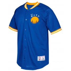 Camiseta Mitchell & Ness Warriors marino hombre