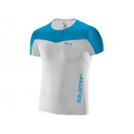 Camiseta MC Salomon S/LAB Sense Tee blanco/azul hombre