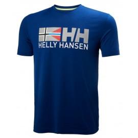 Camiseta manga corta Helly Hansen Rune azul hombre