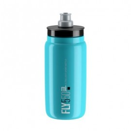 Bidon Elite Fly celeste logo negro 550 ml