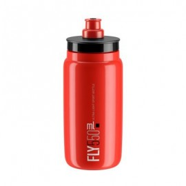 Bidon Elite Fly rojo logo negro 550 ml