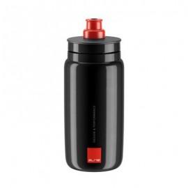Bidon Elite Fly negro logo rojo 550 ml