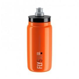 Bidon Elite Fly naranja logo negro 550 ml