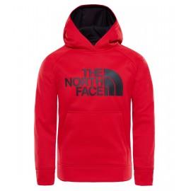 Sudadera con capucha The North Face Surgent rojo niño