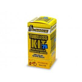 "Kit X-Sauce Tubeless 29"" Valvula Fina 2 ruedas"