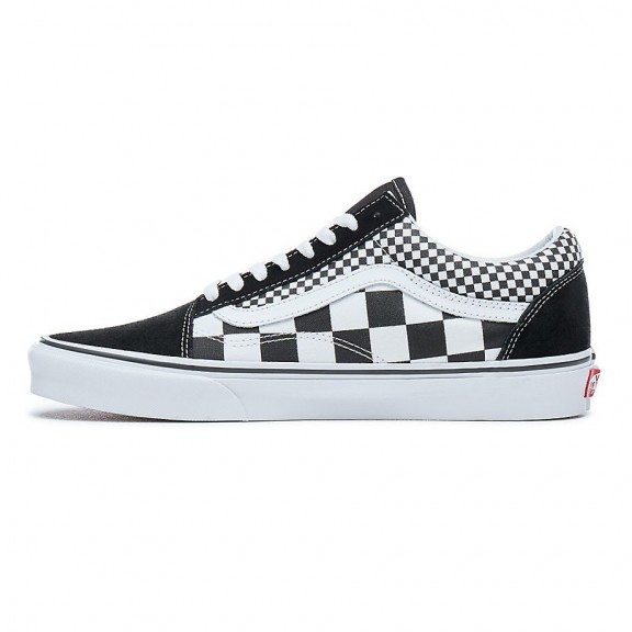 Skool Zapatillas Hombre Vans Checker Blanco Negro Mix Old rI8wCrq