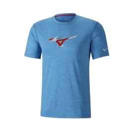 Camiseta running Mizuno Impulse Core Graphic azul hombre