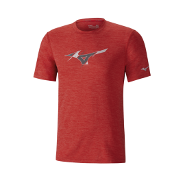 Camiseta running Mizuno Impulse Core Graphic rojo hombre