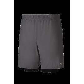 Pantalón corto running Mizuno Alpha Short 7.5 gris hombre