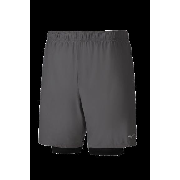 Pantalón Corto Running Mizuno Alpha Short 7.5 Gris Hombre - Deportes ... 891215345669