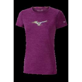 Camiseta running Mizuno Impulse Core Graphic morado mujer