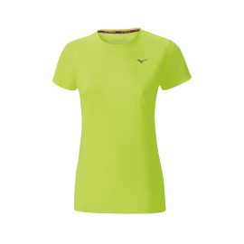 Camiseta running Mizuno Impulse Core amarillo mujer