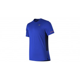 Camiseta running New Balance MC Ice 2E azul hombre