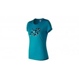 .Camiseta running New Balance MC Accelerate azul mujer