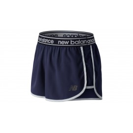 Pantalón corto running New Balance 2.5 Accelerate azul mujer
