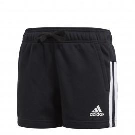 Pantalón corto adidas Mid Essentials 3 bandas negro niña