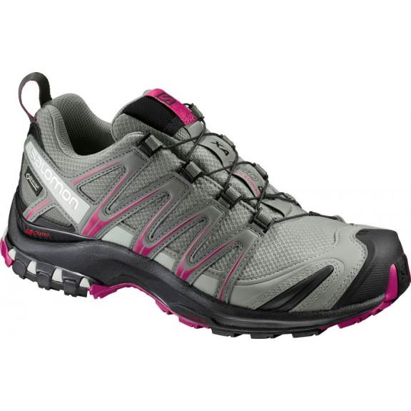 Zapatillas Trail Xa Pro 3D Gtx Verde Fucsia Mujer - Deportes Moya 23bd7b15355