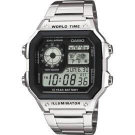 Reloj digital Casio AE-1200WHD-1AVEF plata