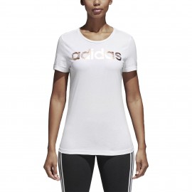 Camiseta Foil Logo Adidas blanco mujer