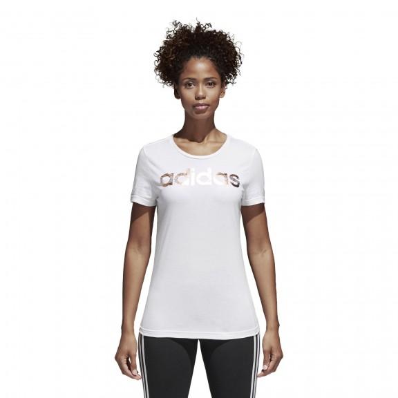 Mujer Comprar Adidas Logo Camiseta Blanco Foil Deportes Moya wTqTXB4