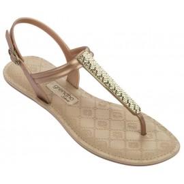 Sandalias Grendha Sense Sandal Fem beige/oro mujer