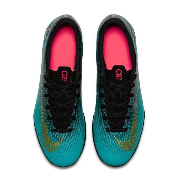 025f35f9c77af Zapatillas de Fútbol Nike Vaporx 12 Club Cr7 Tf Azul Hombre ...