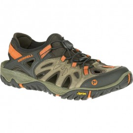 Sandalias trekking Merrell All Out Blaze Sieve marron hombre