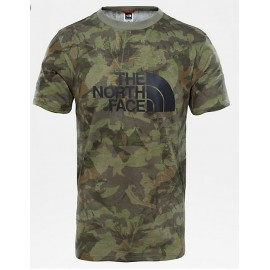 Camiseta M/C The North Face Easy verde camo hombre