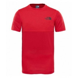 Camiseta M/C The North Face Reactor rojo niño
