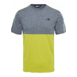 Camiseta M/C The North Face Tansa Block gris/amarillo hombre