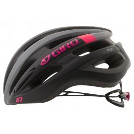 Casco Giro Saga road negro-rosa mujer
