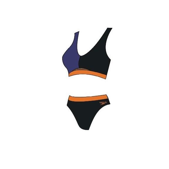 cbd95a5185ad Bikini Speedo HydrActive negro/marino/naranja fluor mujer
