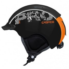 Casco Mini-Pro negro naranja junior