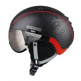 Casco esquí Sp-2 Snowball Visor negro rojo unisex