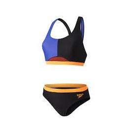 Bikini Speedo HydrActive negro/marino/naranja fluor mujer